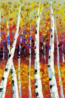 Colored birches