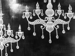 White chandeliers