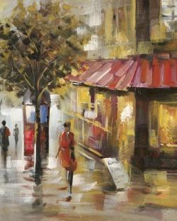 Abstract street with passers
