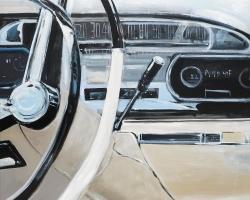 1950s car dashboard