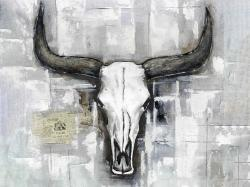 Bull skull on an industrial background
