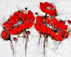 Abstract poppy flowers