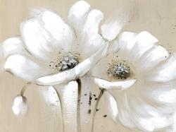 White abstract wild flowers