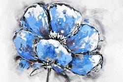 Abstract blue petals