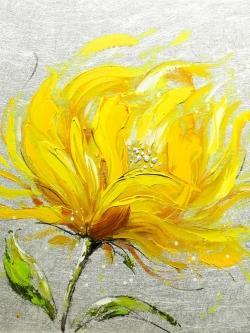 Yellow fluffy flower