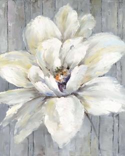 White flower on wood