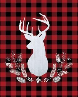 Deer plaid