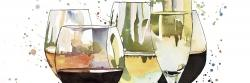 Beautiful wine glasses