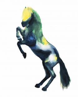 Greeting horse