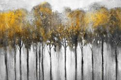 Abstract yellow forest