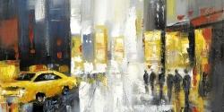 Rainy busy street
