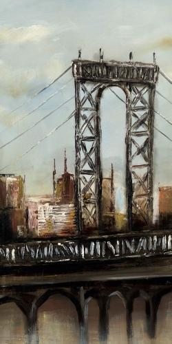 City bridge by a cloudy day