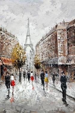 Paris busy street