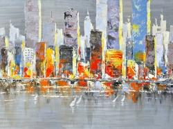 Color splash cityscape