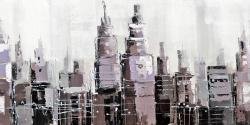 Abstract grayscale cityscape