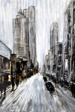 Gray gloomy street