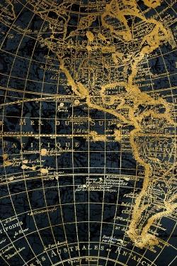 Blue and marine world map globe