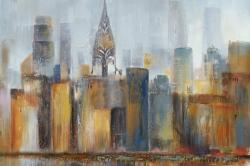Cityscape with chrysler building