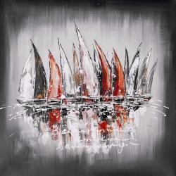 Sailboats with paint splash