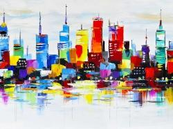 Abstract and colorful city