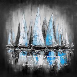 Blue sailboats