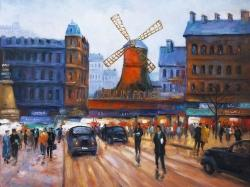 Street scene to moulin rouge