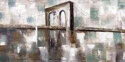 Abstract paint spotted bridge