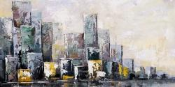 Abstract cityscape in the morning