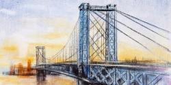 Abstract brooklyn bridge