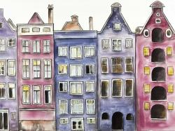 Old historic houses amsterdam