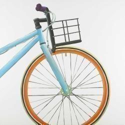 Orange and blue bike