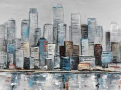 Abstract urban skyline