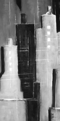 Abstract black and white cityscape