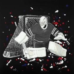 Goalkeeper hockey goal