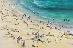 Summer crowd at the beach