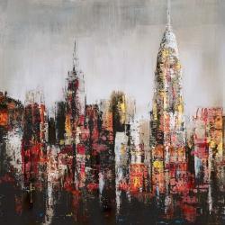 Ville avec éclats de peinture