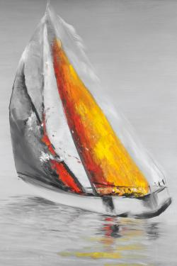 Two colors sailing boat