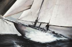 Boat in a violent storm