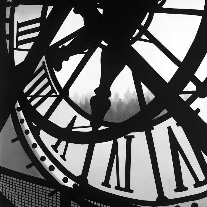 Horloge géante au musée d'orsay