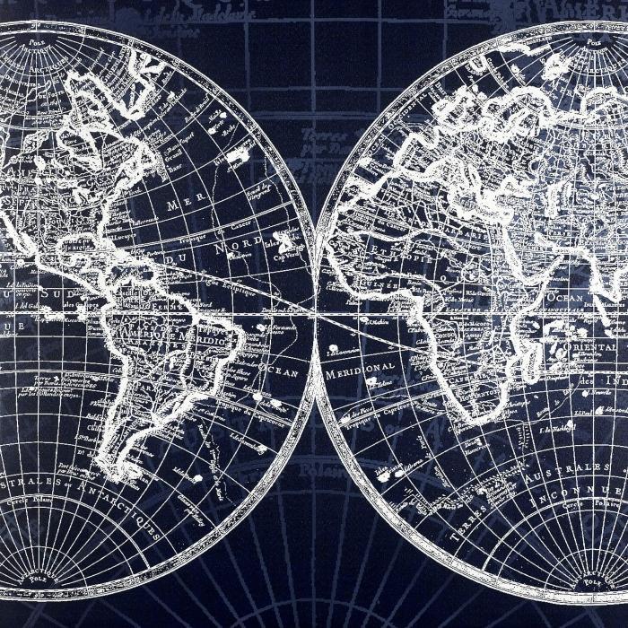 Schéma d'une carte du monde