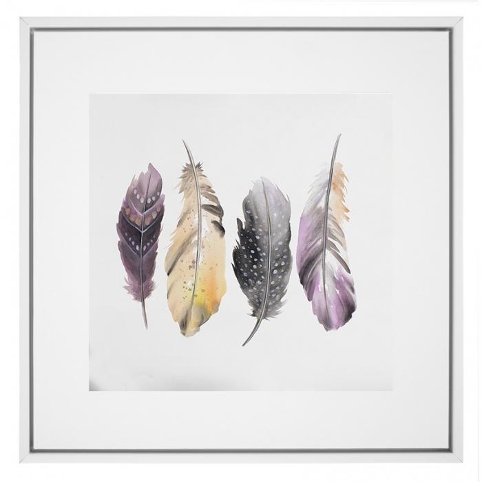 Ensemble de plumes colorées