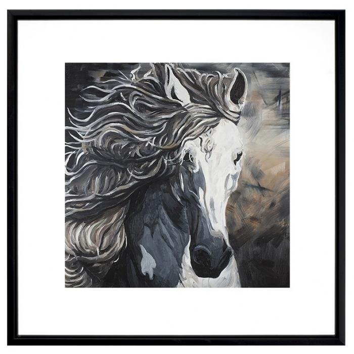 Front wild horse