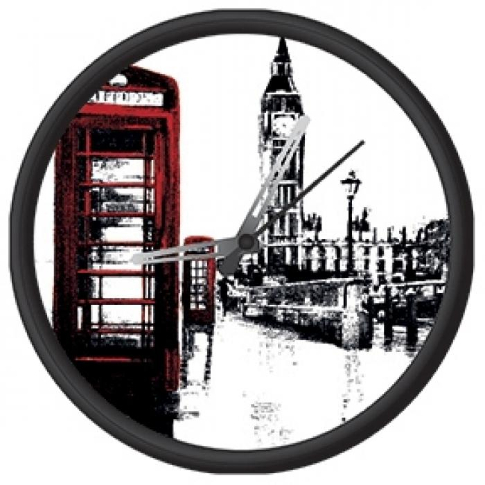 Clock with london print