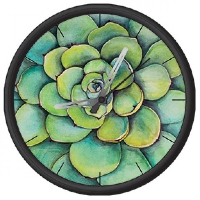 Clock with succulent print