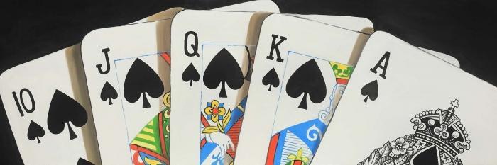 Jeu de cartes flush royale de pique