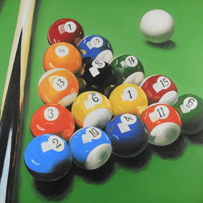 Table de billard avec formation de balle