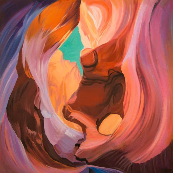 Vue intérieure du canyon d'antelope