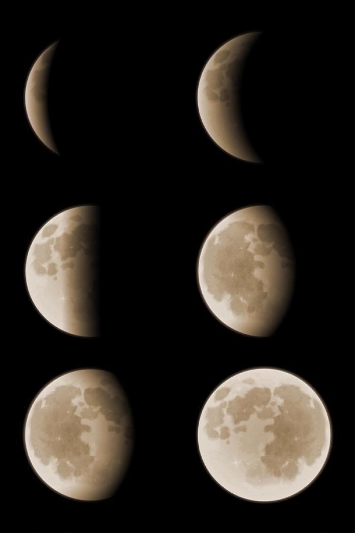 éclipse en six phases