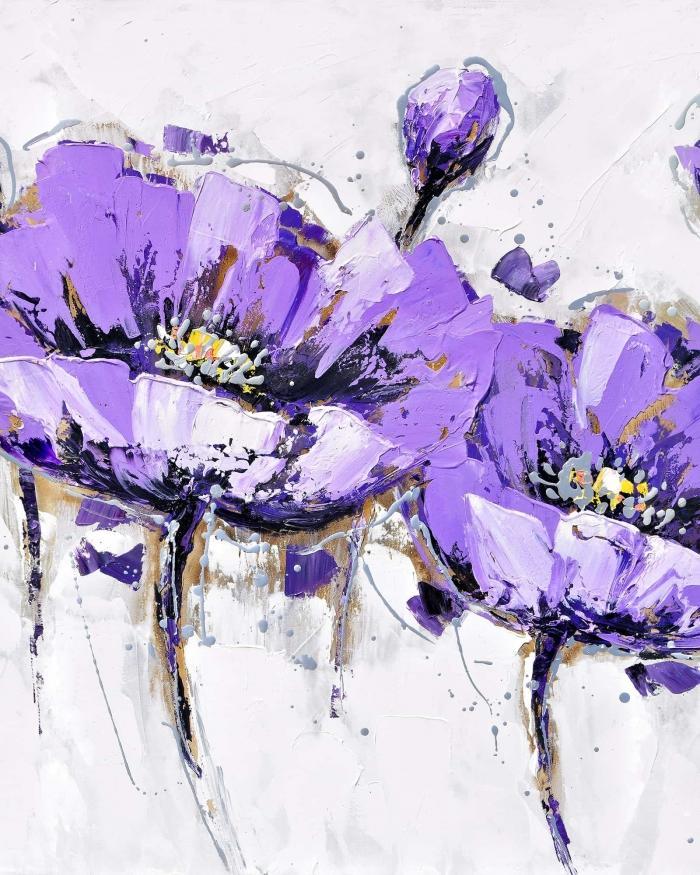 Fleurs anémone mauves