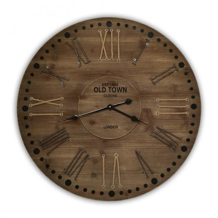 Rustic wood clock